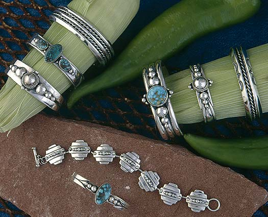 Santa Fe Sterling Silver Gold Jewelry Designs